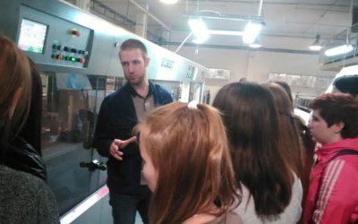 Молодёжь посетила предприятие по производству картона