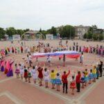 Танцевальный флешмоб прошёл в День России